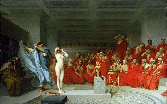 Jean-Léon Gerome, Phryne Revealed Before the Aeropagus (1861)