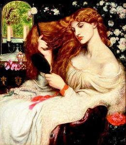 Lady Lilith, Dante Gabriel Rosetti, 1866-73, oil on Canvas, Deleware Art Museum