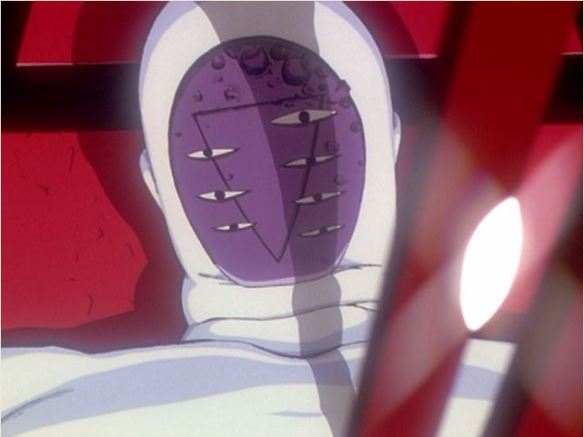 "Lilith as depicted in 1997 in Neon Genesis Evangelion, an anime series which draws on religious symbols and themes. In the series, Lilith is a powerful and potentially dangerous ""Angel,"" who is ultimately crucified."